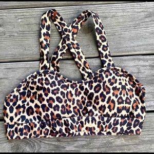 Leopard crisscross bralette